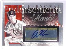 2004 Topps Pristine Endorsements Joe Mauer autograph auto #PEA-JM *49364