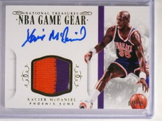 14-15 National Treasures Game Gear Xavier Mcdaniel autograph patch /25 *50732