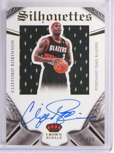 14-15 Panini Preferred Silhouettes Clifford Robinson auto jersey rc /60 *50306