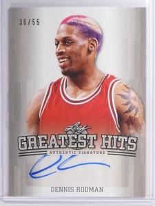 2015 Leaf Greatest Hits Dennis Rodman autograph auto #D36/55 #GH-DR1 *49388