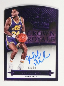14-15 Panini Preferred Crown Purple Jeff Malone autograph auto #D03/20 *48936