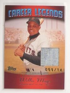 2004 Topps Career Legends Willie Mays jersey #D569/141 #CL-WM2 *55230