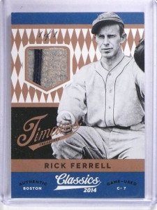 2014 Classics Timeless Treasures Prime Rick Ferrell Patch #D1/1 #19 *63895