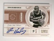10-11 National Treasures Century Tim Hardaway autograph auto #D58/75 *46696