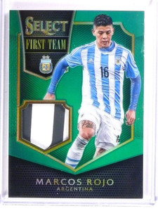 2015 Select Soccer Marcos Rojo Relic Patch Jersey green Argentina #D4/5 *53483