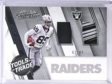 2016 Absolute Tools Trade Amari Cooper Patch Jersey Glove #D62/99 #40 *57489