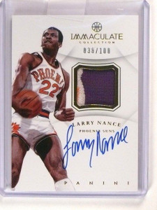12-13 Panini Immaculate Larry Nance autograph auto 3clr patch #D38/100 *46415