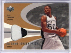 03-04 Upper Deck Game Jersey 2clr patch David Robinson #DR-PP *32449