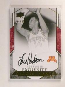2012-13 UD Exquisite Lou Hudson Autograph Auto Signatures #d24/99 *45779