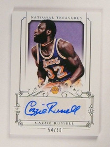 2013-14 National Treasures Cazzie Russell Autograph Auto #d54/60 Lakers *45682