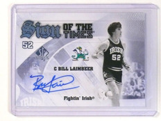2013-14 SP Authentic Sign Of The Times Bill Laimbeer Autograph Auto ND Irish *45