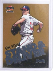 1997 Score Stand & Deliver Gold Greg Maddux #2 *64832