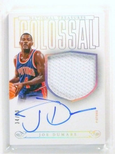 13-14 National Treasures Colossal Joe Dumars autograph auto jersey #D34/60 *4477