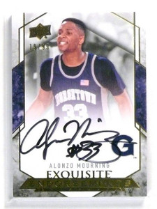12-13 Upper Deck Exquisite Endorsements Alonzo Mourning autograph #D19/99 *44725