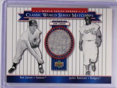 2002 Upper Deck World Series Heroes  Don Larsen Pants w/ Robinson #56a *63572