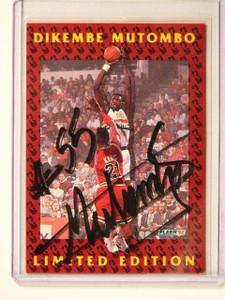 92-93 Fleer Dikembe Mutombo auto autograph #11of12 *41314