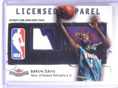 2003-04 Fleer Patchworks Licensed Apparel Baron Davis Patch #D44/50 #LABD *63376