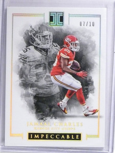2016 Panini Impeccable Gold Jamaal Charles #D07/10 #23 *60698