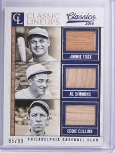 2014 Classics Classic Lineup Foxx Simmons Collins Triple Bat #D96/99 #18 *63973