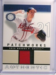 2003 Fleer Patchworks Greg Maddux Jersey Patch #D245/300 #PW-GM2 *51636
