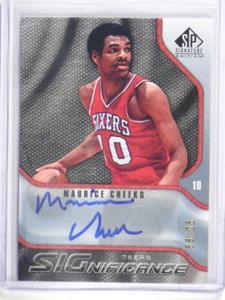09-10 Sp Signature Significance Maurice Cheeks auto autograph #D90/99 *34328