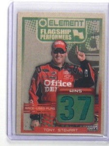 2010 Press Pass Element Flagship Performers Flag Tony Stewart #D1/5 *33482