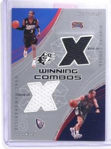 2002-03 Upper Deck SPx Winning Combos Jason Kidd Allen Iverson Jersey #AIJK *633