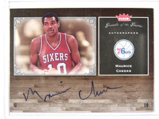05-06 Fleer Greats of game Maurice Cheeks auto autograph #GG-MC *29640