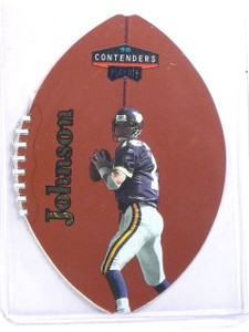 1998 Playoff Contenders Leather Gold Brad Johnson #D01/37 #51 *59661
