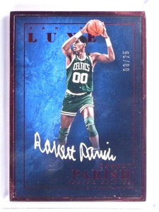 2015-16 Panini Luxe Ruby Red Robert Parish autograph auto #D08/25 *55886