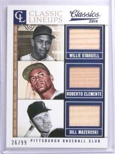 2014 Classics Classic Lineups Stargell Clemente Mazeroski Bat #D26/99 #13 *63940