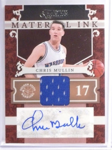10-11 Timeless Treasures Ink Chris Mullin autograph auto jersey #D88/99 *49397