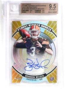 2012 Topps Finest Gold Atomic Refractor RC Brandon Weeden Auto /25 BGS 9.5 *5763