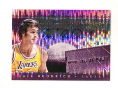 13-14 Select Hall Selections Purple Gail Goodrich autograph auto #D28/30 *46279