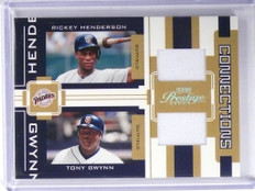 2005 Playoff Prestige Connections R. Henderson T. Gwynn Jersey #D039/250 *49948