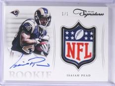 2012 Prime Signatures NFL Shield RC Isaiah Pead Autograph Patch 1/1 #24 *57548