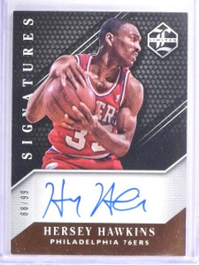2015-16 Panini Limited Signatures Hersey Hawkins Autograph #D88/99 #LSHH *62956