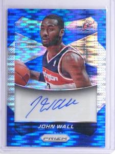 2014-15 Panini Prizm Blue Pulsar John Wall autograph auto #D70/149 #65 *55863