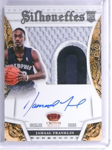 2013-14 Panini Preferred Silhouettes Jamaal Franklin patch auto rc #D15/25 *5586