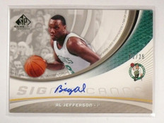 2005-06 SP Game Used Al Jefferson SIGnificance Autograph Auto #D02/25 #AL *51051