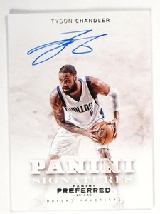 2014-15 Panini Preferred Tyson Chandler Signatures Autograph Auto #D02/30 *49017