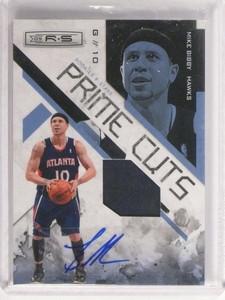 09-10 Rookies & Stars Prime Cuts Mike Bibby autograph auto patch #D08/25 *48872