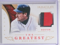 2014 Panini Immaculate Collection The Greatest Wade Boggs Patch #D08/25 #19 *640