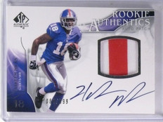 2009 SP Authentic Rookie RC Authentics Hakeem Nicks Autograph Jersey /999 *57495
