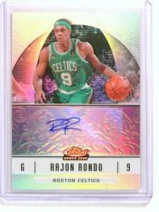 06-07 Topps Finest Refractor Rajon Rondo autograph auto rc rookie #72 *44780