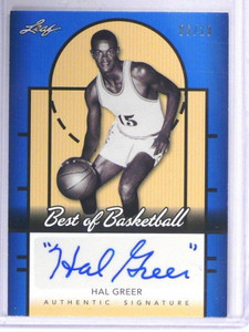 2013 Leaf Best Of Basketball Blue Hal Greer auto autograph #D06/10 *40898