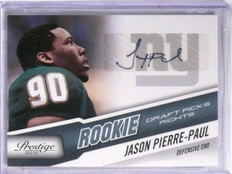 2010 Prestige Rookie Draft Picks Rights Jason Pierre-Paul Autograph /399  *57479