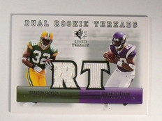 2007 Sp Rookie Threads Dual Adrian Peterson & Brandon Jackson jersey *46695