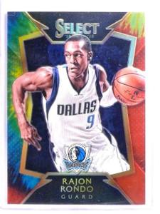 2014-15 Panini Select Rajon Rondo Tie Dye Prizm #D01/25 #64 *54154
