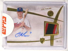 2014 Topps Supreme Patches Joe Mauer autograph auto 3clr patch #D18/25 *52140